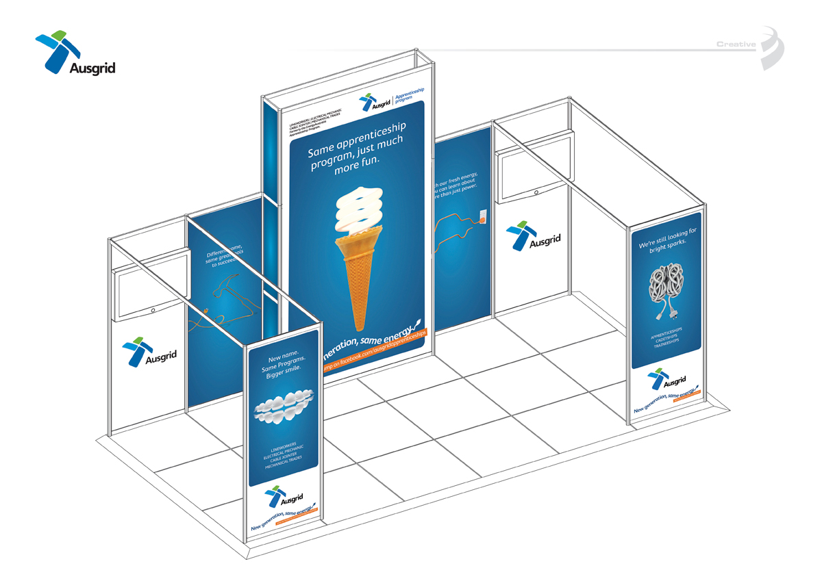 Exhibition Stand for Ausgrid. Creative by Blaze Advertising