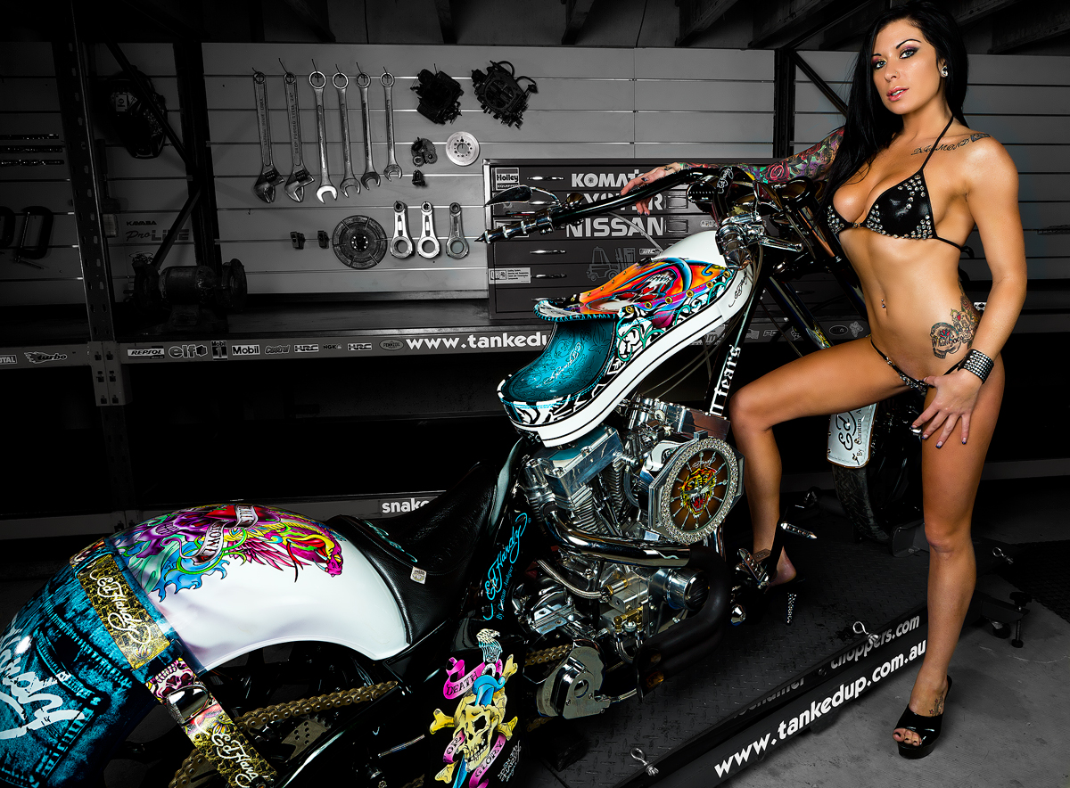 Ed Hardy Bike for Snake Charmer Productions